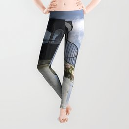 Blossoms and Lighthouse Leggings