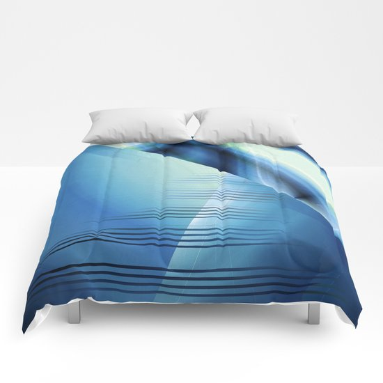 Blue abstract 2016 Comforters