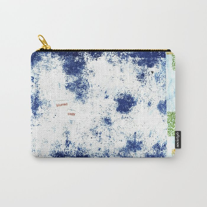 Blurred Copy Carry-All Pouch