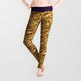 Golden noisy texture Leggings