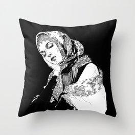 Lady Russia. Yury Fadeev© Throw Pillow