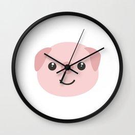 Cute kawaii Pig head Wall Clock