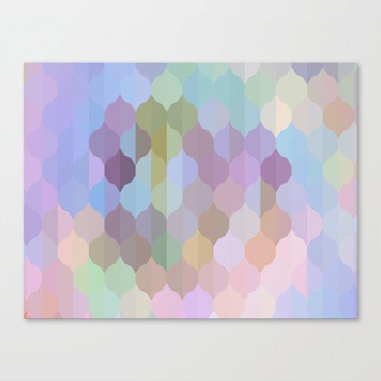 Pastel Geometric Abstract Canvas Print