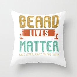 Beard Bearded November Funny saying Throw Pillow