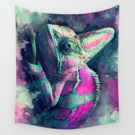 chameleon #chameleon #animals Wall Tapestry