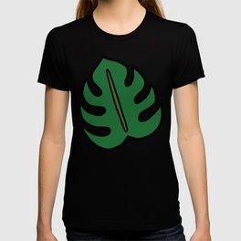 Monstera Leaf Pattern T-shirt