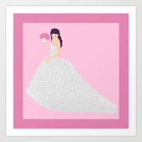 bride Art Prints featuring Bride by NeoQlassical