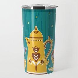 Retro coffee for one illustration Travel Mug