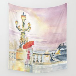 Love In The Rain Wall Tapestry