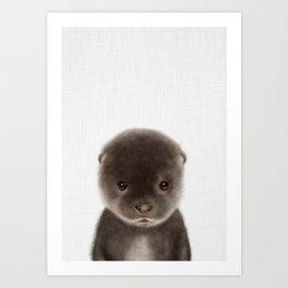 Baby Otter Art Print