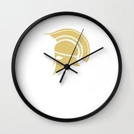 Roman Galea or Helmet in Japanese Gold Wall Clock
