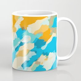 blue orange and brown dirty painting abstract background Coffee Mug