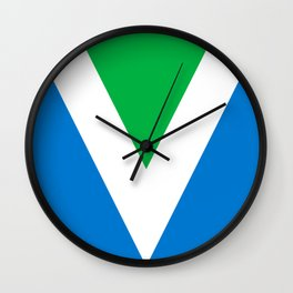 Official Vegan Flag Wall Clock