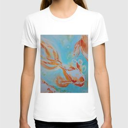 GoldFish Bubbles 1se watercolor by CheyAnne Sexton T-shirt