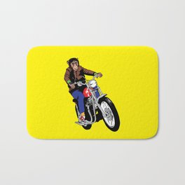 Biker Chimp Bath Mat