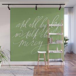 """""""Sadie"""" (Joanna Newsom) in green Wall Mural"""