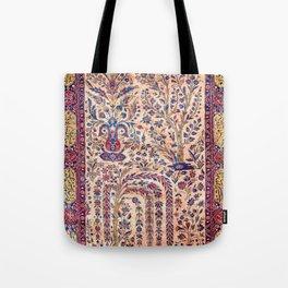Silk Kashan Central Persian Rug Print Tote Bag