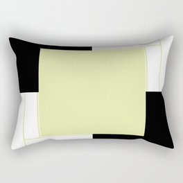 Creamy Stripe with Black Box Rectangular Pillow