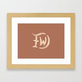DFW (Dallas Fort Worth) Framed Art Print