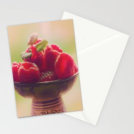 Raspberries fruit enjoyment Stationery Cards
