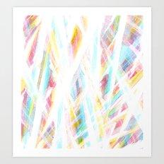 Color Rays Art Print