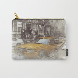 NYC Yellow Cabs Avenue - SKETCH Carry-All Pouch