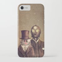victorian iPhone & iPod Cases featuring Victorian Robots  by Terry Fan