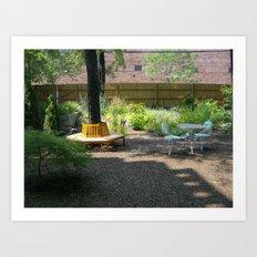 Solitude In The Backyard Garden Art Print