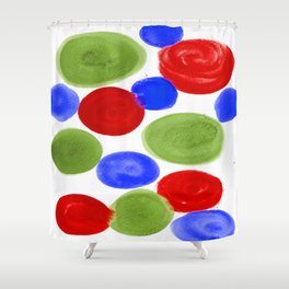 RED BLUE GREEN Shower Curtain