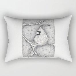 Snow Cardinal Rectangular Pillow