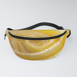 Yellow Romance - Yellow Rose with sparkling waterdrops - Roses Fanny Pack