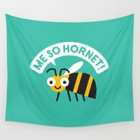 kubrick Wall Tapestries featuring Full Metal Yellow Jacket by David Olenick