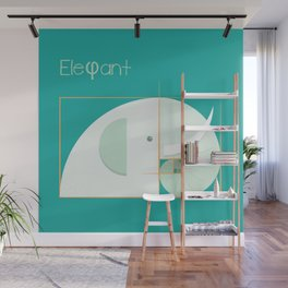 Golden ratio elephant Wall Mural