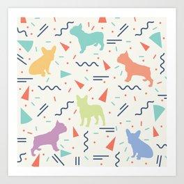 French Bulldog Pattern Art Print