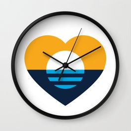 Heart of MKE - People's Flag of Milwaukee Wall Clock