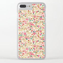Dachshund longhaired doxie floral dog breed pet gift for dachsie lovers must haves Clear iPhone Case