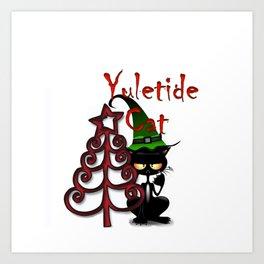 Yuletide cat Art Print