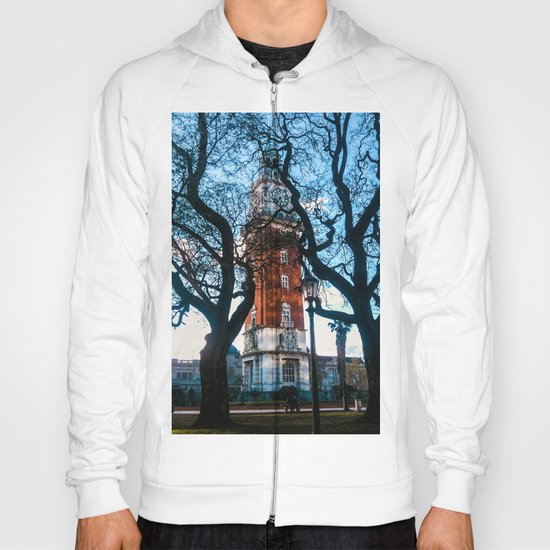 Building with Clock in Buenos Aires Hoody