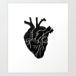 Black Heart II Art Print