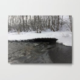 A stream of winter Metal Print