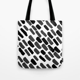 Oblique dots black and white Tote Bag