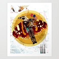 Pinguin Man wants to fly... Art Print