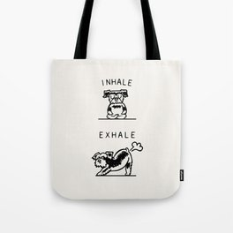 Inhale Exhale Schnauzer Tote Bag