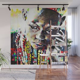 Reverie - Ethnic African portrait Wall Mural