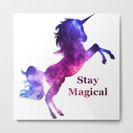 Stay Magical Unicorn Metal Print