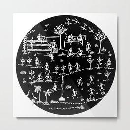 Warli Art Metal Print