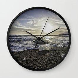 Jokulsarlon Lagoon Beach 06 Wall Clock