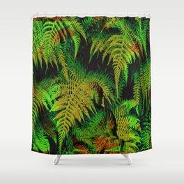 Camouflage Hidden Buddha in Ferns Shower Curtain