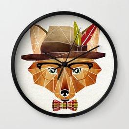mr. fox Wall Clock
