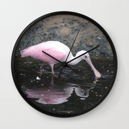 National Aviary - Pittsburgh - Roseate Spoonbill Wall Clock